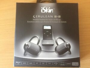 iSkin Cerulean F1 + Tx wireless headset /w ipod transmitter dock