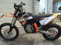 KTM 450 XCW Blue Plated for street
