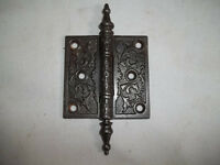 3  X 3  Inch Hinge Steeple Tip Cast Iron  With Decorative Barrel