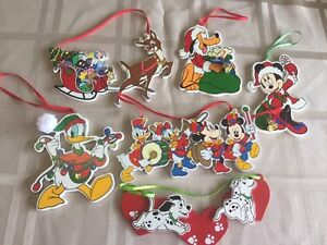 6 Disney wood Christmas decorations