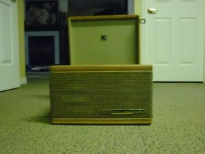 antique vintage record player