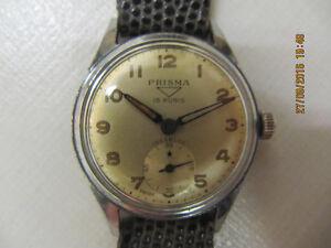 VintagePrisma 15 RubisIncabloc Swiss Made Wind Up Watch Cir1950s