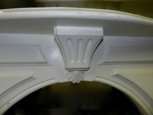 AntiqueGorgeous Oak Empire Carved Serpentine TopFireplace Mantle