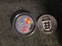 Referee toss coins