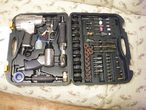 Air tools, tap and die set, sockets, snapring pliers, misc tools