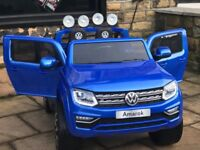 VW Amarok in Met Blue, Met Black, White, 2 Seater,