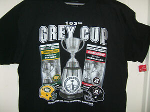NEW 103rd GREY CUP Football T-shirt,CFL licensed,Ottawa/Edmonton