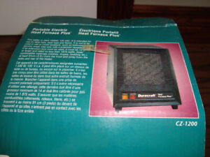 TWO MICRO SIZE 120V ELECTRIC HEATERS