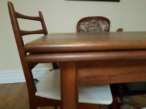 1960s Mid century Danish teak dining table + 6 chairs