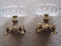 Vintage Ash Trays (Used as Candle Holders)