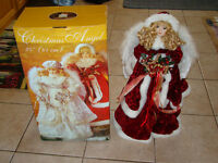 CHRISTMAS PORCELAIN STANDING LARGE ANGEL