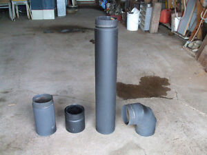 6 inch double wall black stove pipe