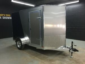 6'x10' All Aluminum - Wedge Nose Cargo Trailer