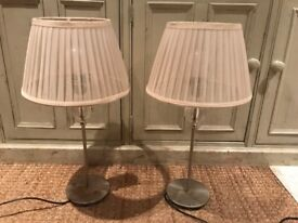 2x table lamp lights