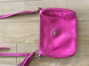 Roots cross-body bag - limited edition pink leather