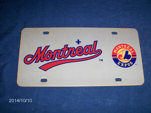 MONTREAL EXPOS BASEBALL TEAM LICENSE PLATE-COLLECTIBLE!