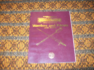 Advanced Dungeons & Dragons  Forgotten Realms Warriors & Priests