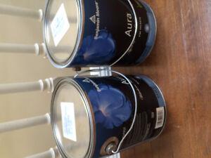 Benjamin Moore Aura paint gallon (light blue)