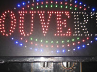 led ouvert sign / enseigne lumineuse ouvert