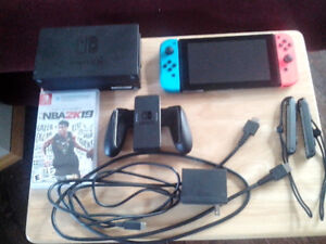 Nintendo Switch Console Brand New With NBA 2K19