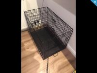 Dog/puppy crate & puppypads