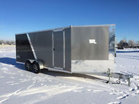 2016 New Pace 7x23 Aluminum Drive in and Out Snowmobile Trailer