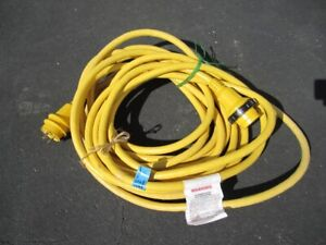 Marine power cord for shore power. Cord is 50'made by Marinco