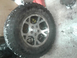 4 tires 255/70r/16 on jeep rims