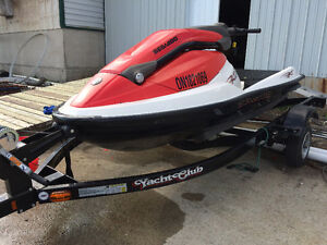 2005 Seadoo 3D with yacht club trailer