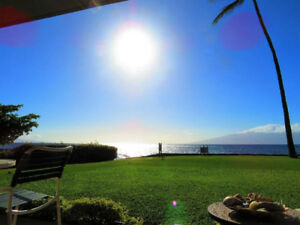 MAUI DIRECT OCEANFRONT,1 BED & 1 BATH, GROUND FLOOR CORNER UNIT