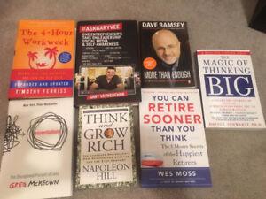 7 personal development books - BRAND NEW