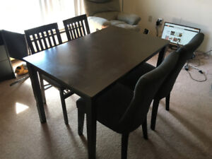Dining table with or without chairs