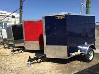 Huge Selection of 4x6 to 5x10 Small Enclosed Trailers In Stock