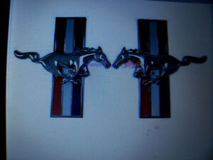 Chrome Running Horse Fender Emblem Set Fits Ford Mustang London Ontario image 3