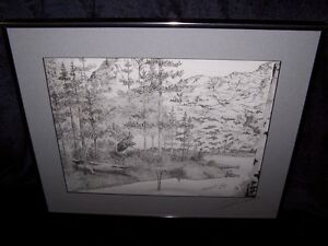 ELK/DEER LIMITED PRINT by CAMERON W.HODGES,SIGNED '92