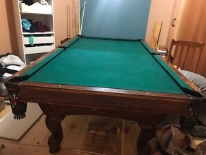 Pool table for sale - recently recovered.