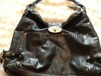Matt & Natt black leather handbag
