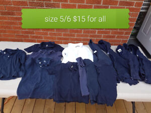2 sweaters and uniforms boys size 5/6