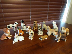 Porcelain animal figurines (dogs, cats, wildlife, horse)