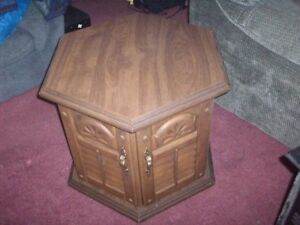 2 different style end tables