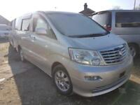 TOYOTA ALPHARD, 2004, 2.4 LITRE, 50,058 MILES, AUTOMATIC