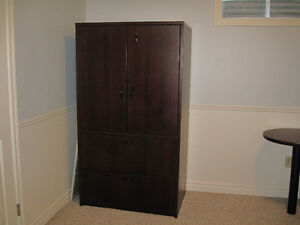 Commercial Sized Desk and Armoire Kitchener / Waterloo Kitchener Area image 3