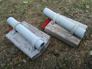 Homemade rod holders for a tin boat