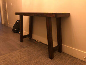 Rustic Wood Console/Sofa Table