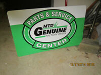 MTD Metal Dealer Sign......Perfect Condition