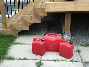 3 Gas containers (one large, two small)