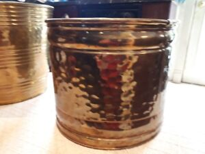 vintage brass paper/garbage cans