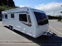 Lunar Delta TI 2015 4 Berth End Washroom Fixed Bed Twin Axle Caravan For Sale
