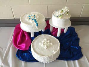 3 Tier Premade Cake Stand with gum paste Flower topper included! Strathcona County Edmonton Area image 8