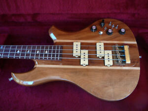 1980 BC Rich Eagle Bass with factory case.